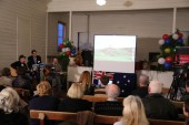 Condah and district residents enjoy patriotic songs of World War 1.